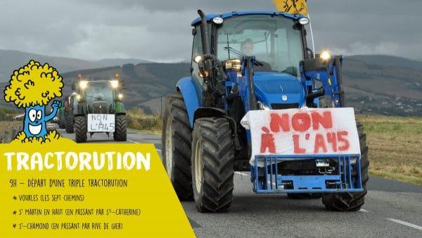 Tractorution le 2 juillet pour rejoindre le rassemblement festif des opposants à l'A45