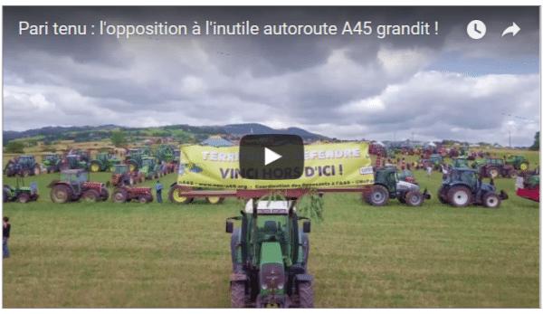 Pari tenu : l'opposition à l'inutile autoroute A45 grandit !