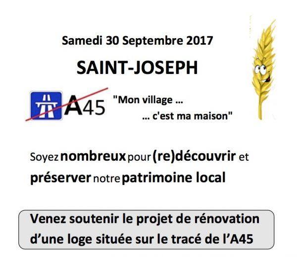 Rendez-vous le 30 septembre à Saint-Joseph (42)