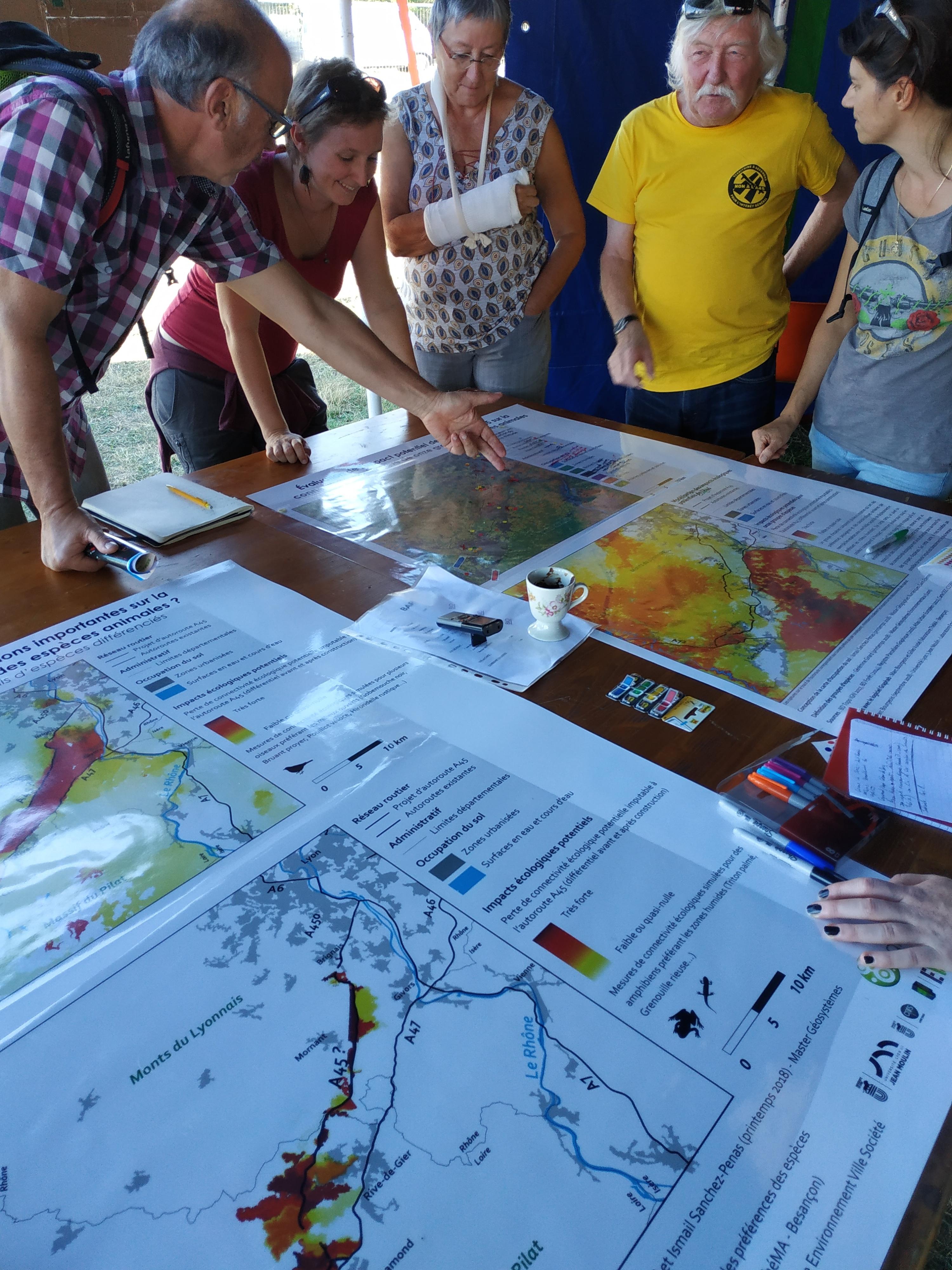cartes ateliers géographes libertaires A45