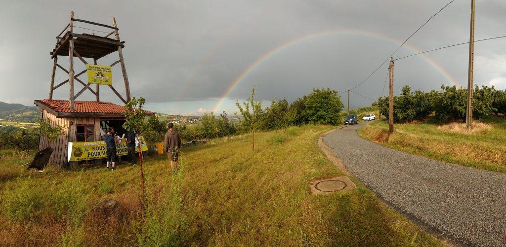 Tour contre l'A45 Cellieu