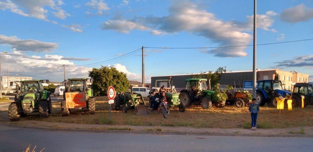 Tracteurs zone des platières contre l'A45